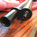 Business end of the .58 caliber Quackenbush Outlaw Airgun