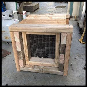 rubber mulch silent pellet trap